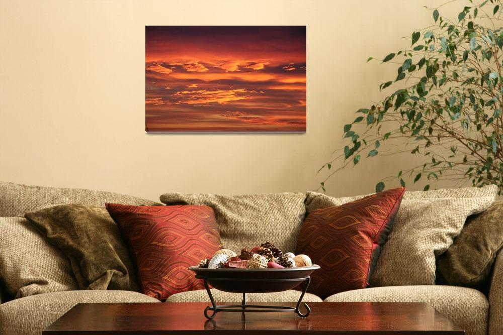 """Sunset Clouds 3&quot  (2010) by BMRamos"
