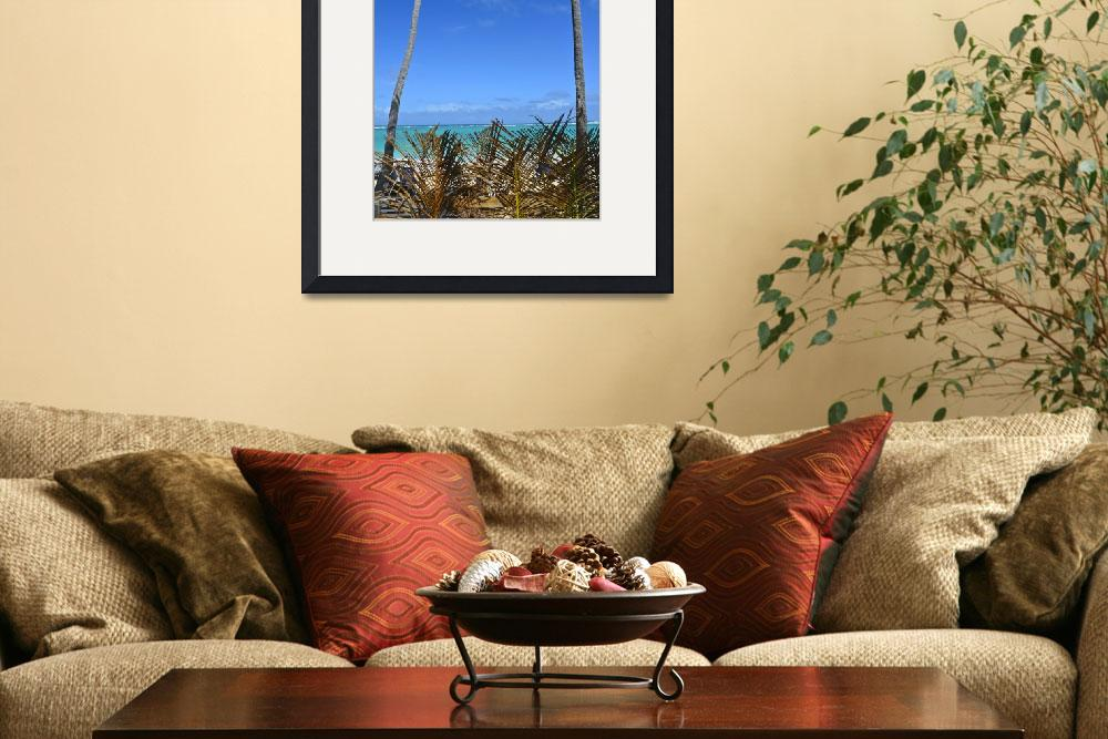 """Punta Cana Palm Wall Framed&quot  (2014) by JokrG"