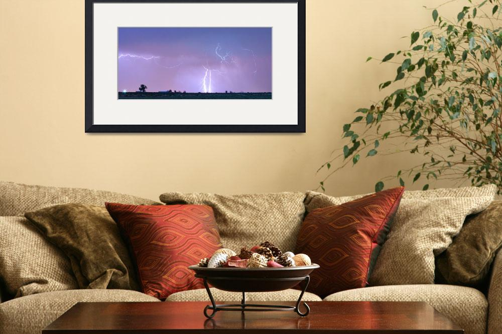"""Thunderstorm on the Colorado Plains Panorama&quot  (2012) by lightningman"
