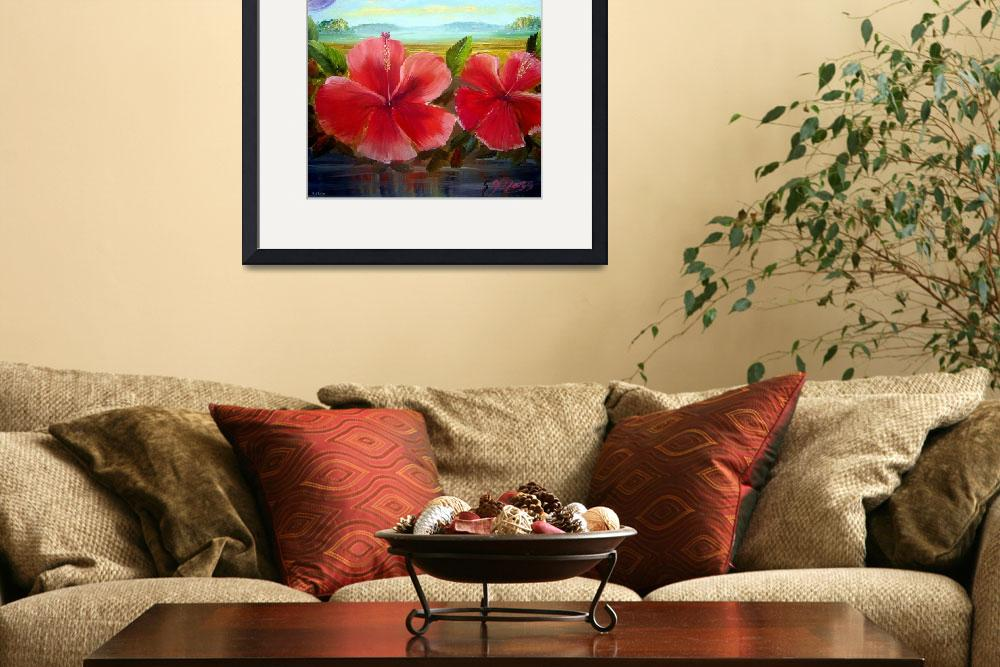 """Hibiscus Oil Painting&quot  (2009) by mazz"