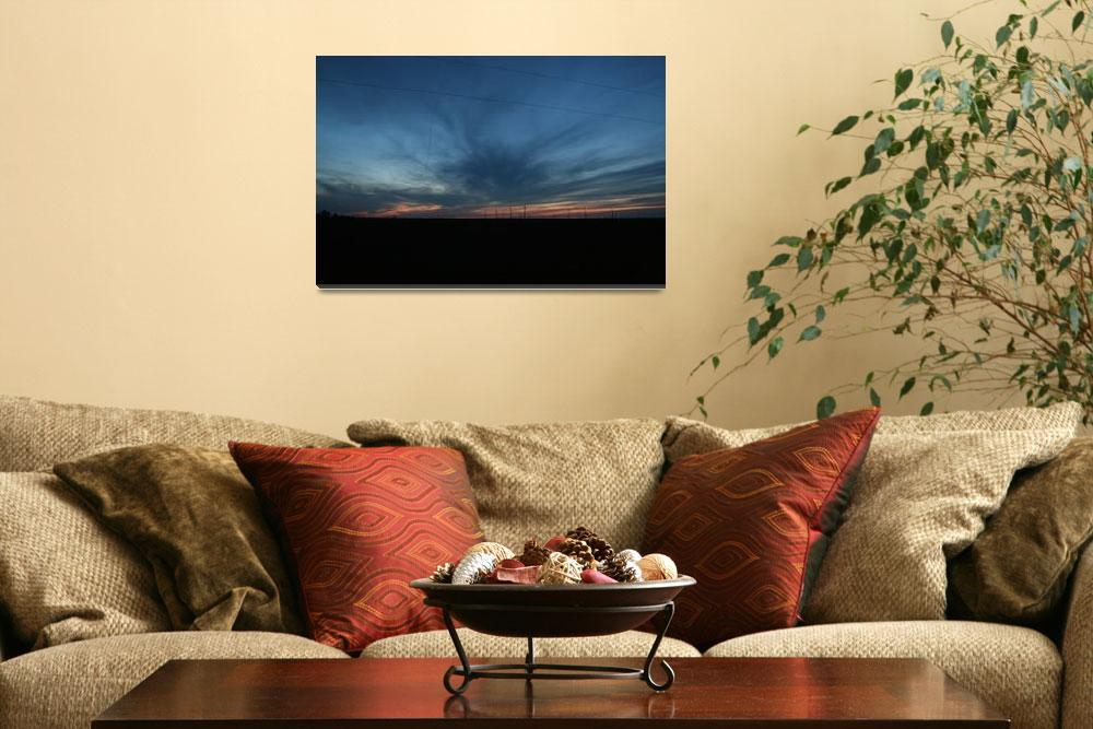 """Wind Farm Sunset&quot  by DavidCombs"
