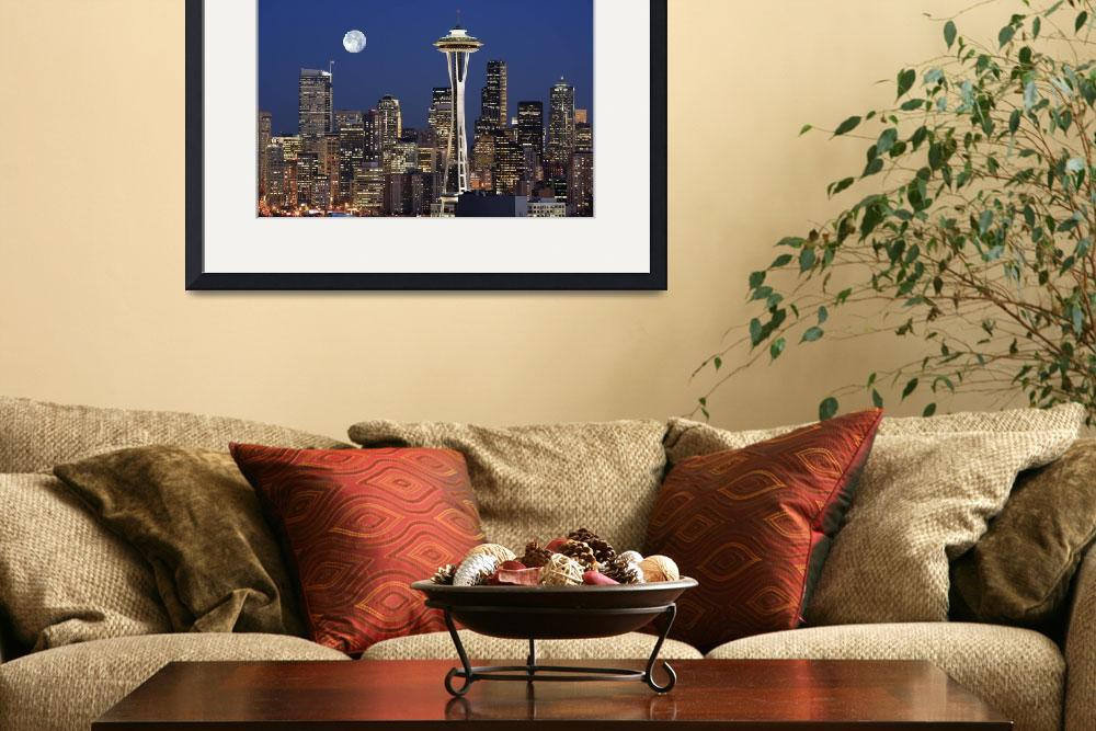 """Seattle Full Moon&quot  (2006) by Inge-Johnsson"