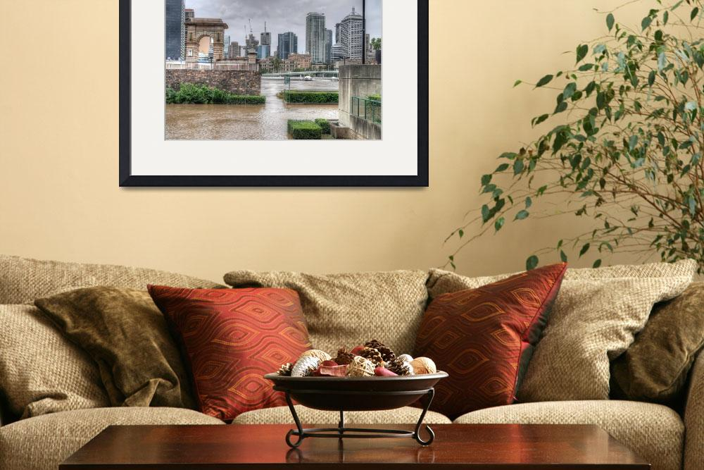 """Brisbane CBD from South Bank During Flood&quot  by urban"