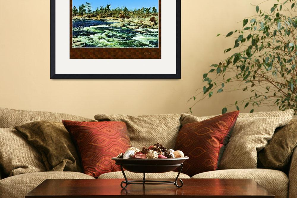 """burleigh falls-matted rust KWB 11x7&quot  by kwbpics"