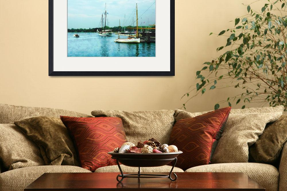 """Boats on a Calm Sea&quot  by susansartgallery"