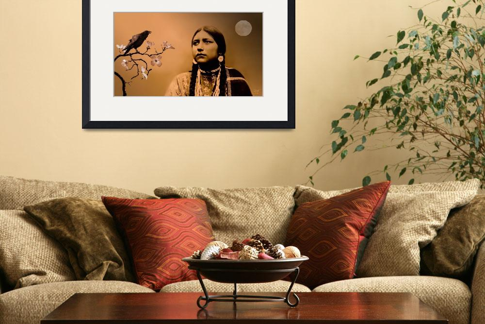 """Lakota Woman and Raven&quot  (2010) by spadecaller"