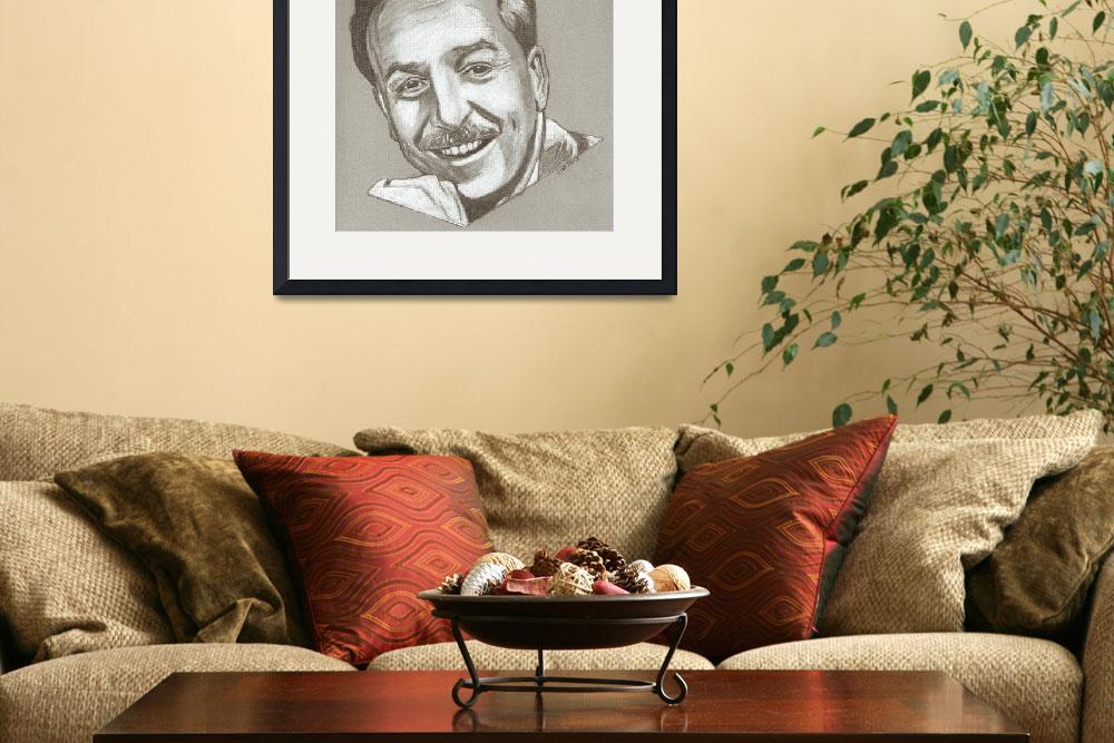 """Walt Disney drawing&quot  (2013) by RobCrandall"