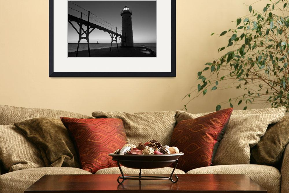 """Manistee, Michigan Pier and Lighthouse&quot  by North22Gallery"