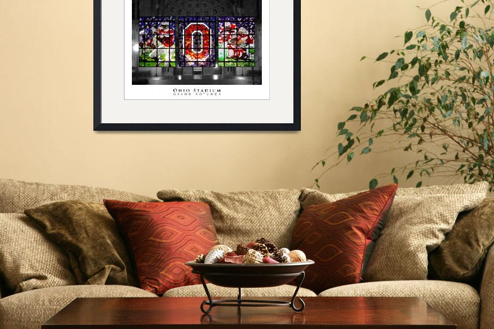 """Ohio Stadium Grand Rotunda Stained Glass&quot  (2009) by ssanders79"
