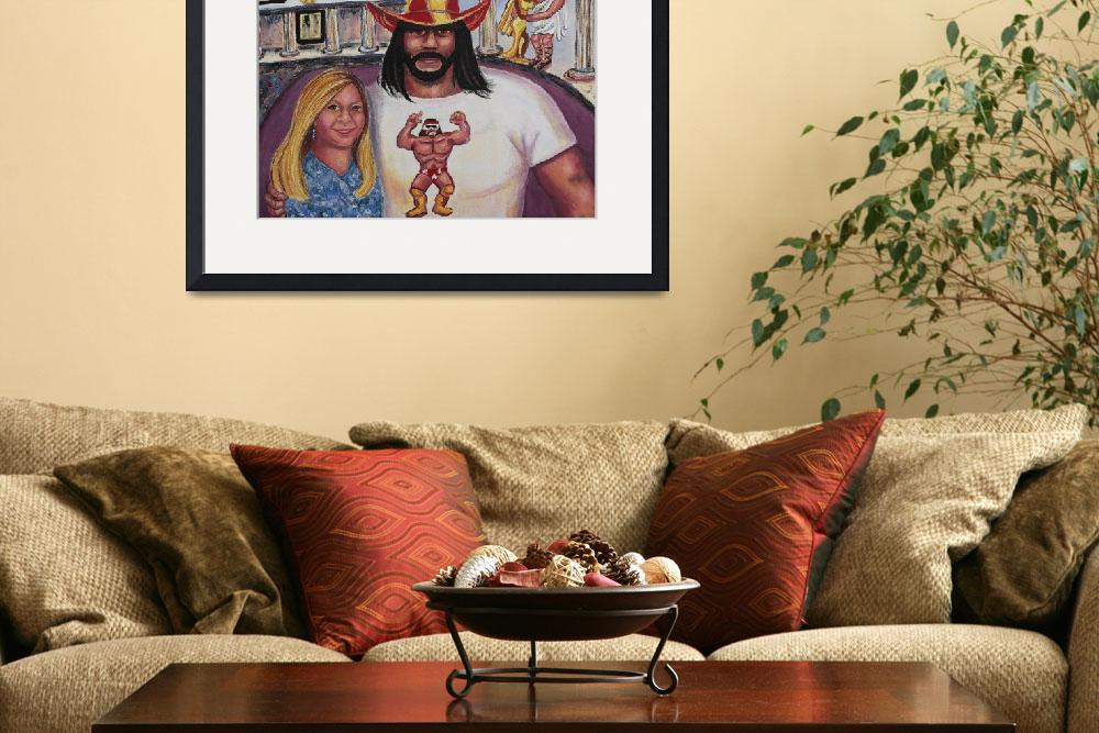 """2007,Randy Savage Wrestlemania Caesars Palace with&quot  by leclairart"