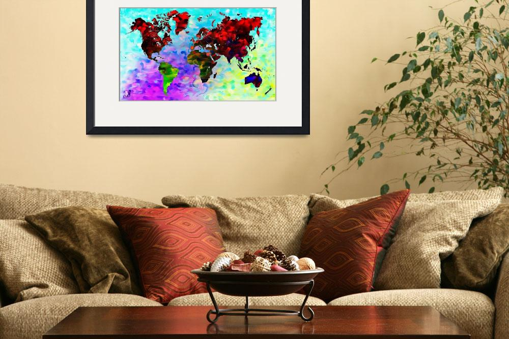 """Word World Map&quot  (2012) by D77TheDigArtisT"