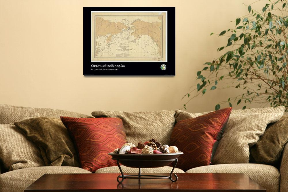 """Bering Sea Currents 1881&quot  (2012) by AOCPrints"