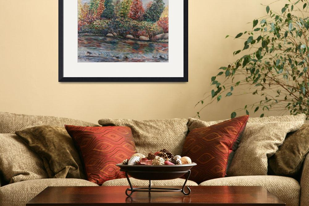 """Autumn Stream&quot  (2008) by nadinerippelmeyer"