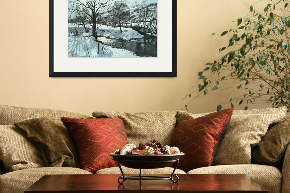 """Winter River by John Cooke&quot  by fineartmasters"
