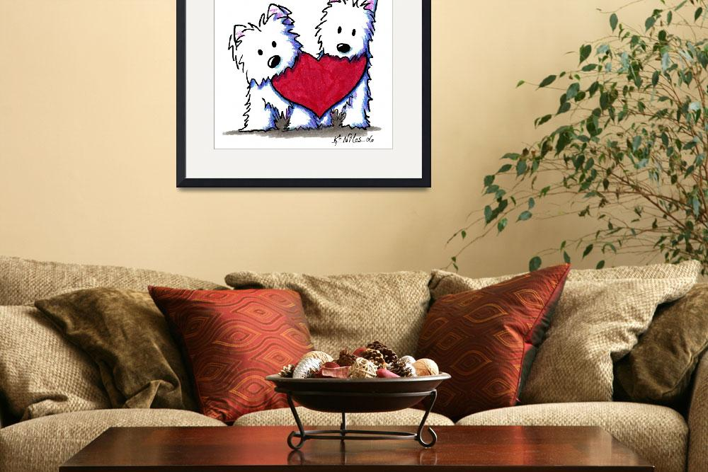 """Valentine Westie Duo&quot  (2006) by KiniArt"