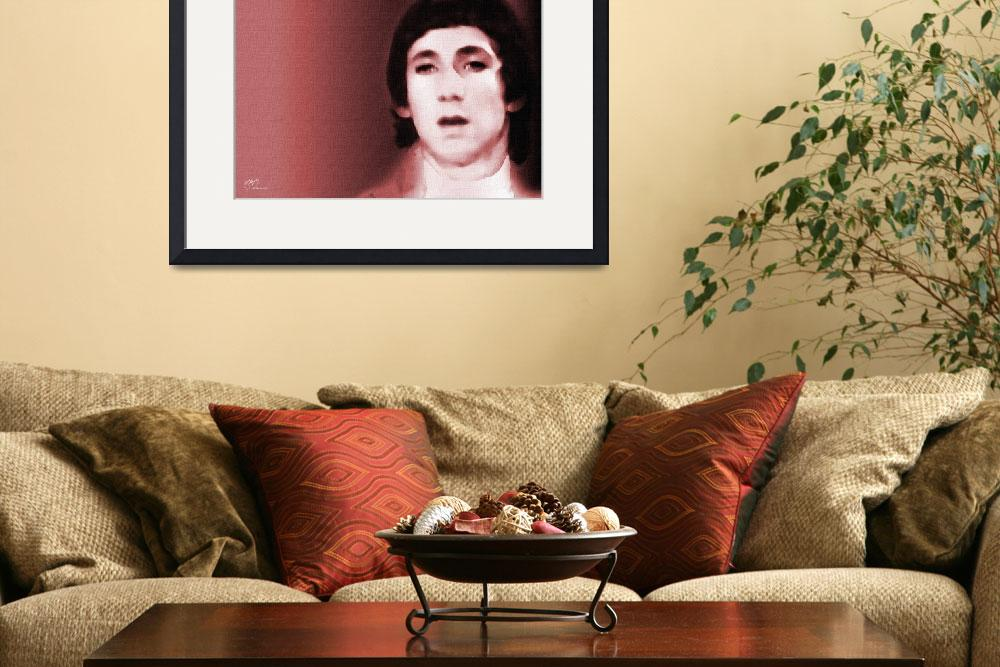 """Pete Townsend, The Who - fine art giclee print&quot  (2007) by positiveID"