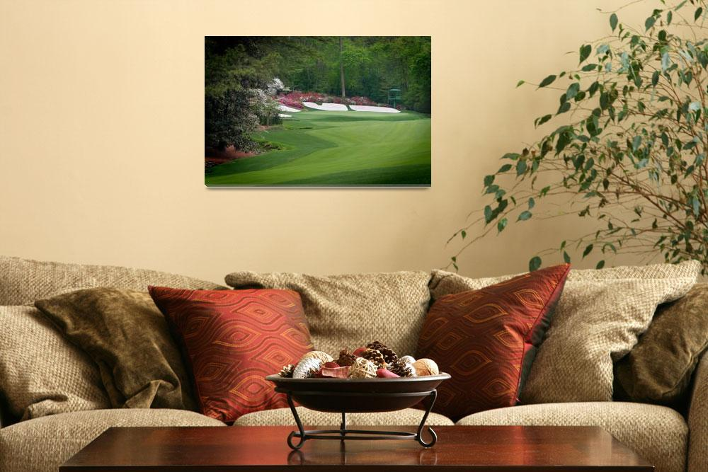 """Amen Corner Augusta Georgia Golf&quot  (2009) by AngelWingsArt"