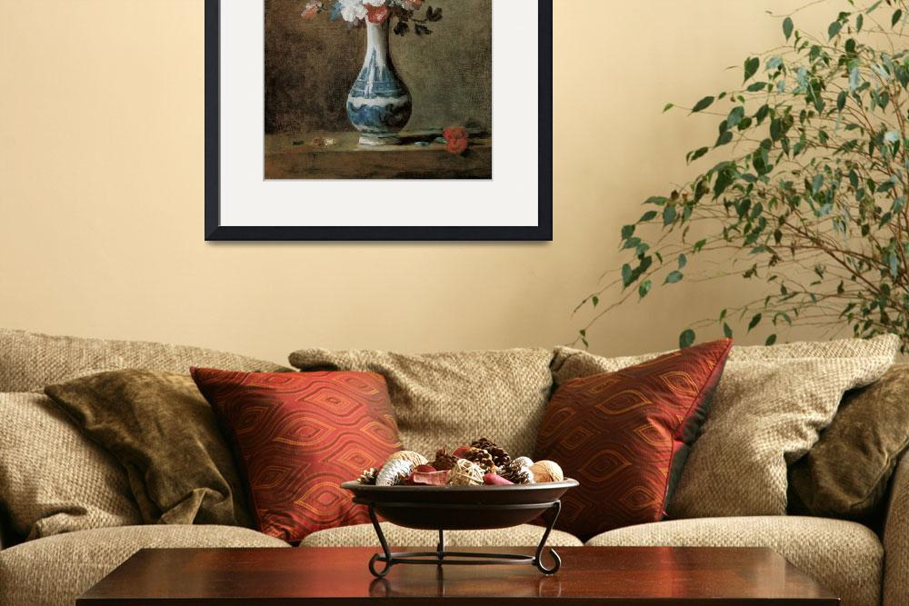 """Chardin Flowers in a blue vase&quot  by oldies"