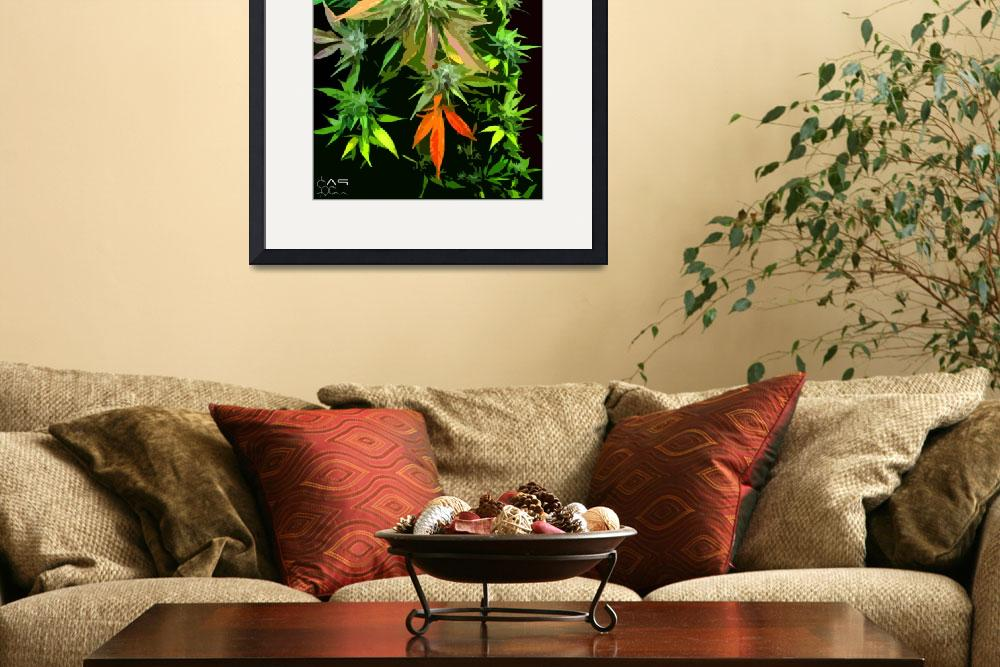 """Colorful Cannabis leaves&quot  (2011) by thunder"