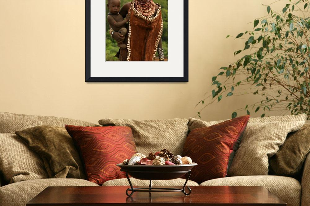 """Ethiopian Tribal Mother & Child&quot  (2007) by FionaMacKay"