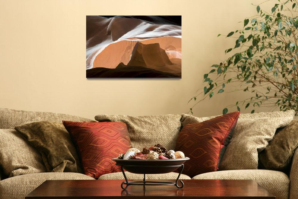 """Antelope Canyon Desert Abstract&quot  (2009) by miir"
