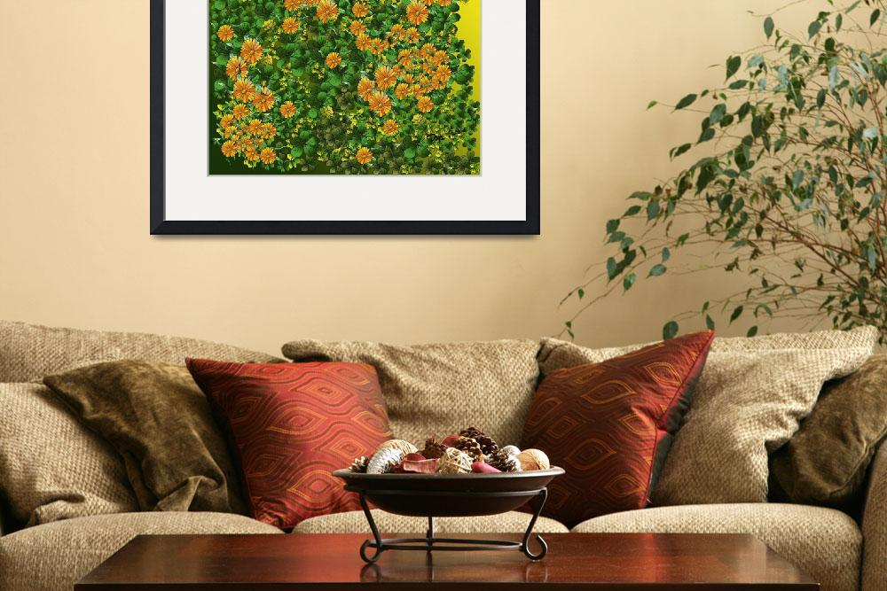 """Tangerine Sunflowers&quot  (2009) by TheCallanCollections"