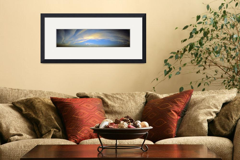 """Panoramic Sunset Skyscape Pine Island Florida&quot  (2013) by GinetteCallaway"