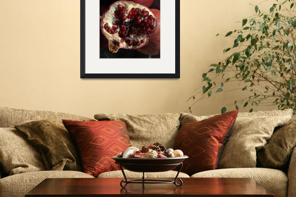 """Pomegranate, Still Life, in Natural Light&quot  (2009) by LauraM"