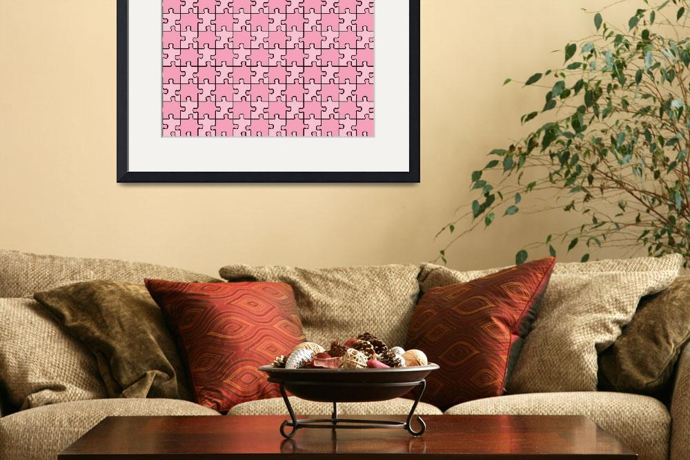 """seamless puzzle with mixed pink colors&quot  by robertosch"