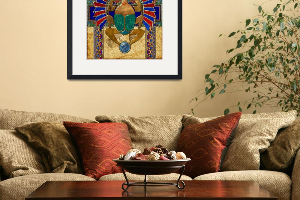 """Sarcophagus Egyptian 3D Folk Art&quot  (2013) by ReneeLozenGraphics"