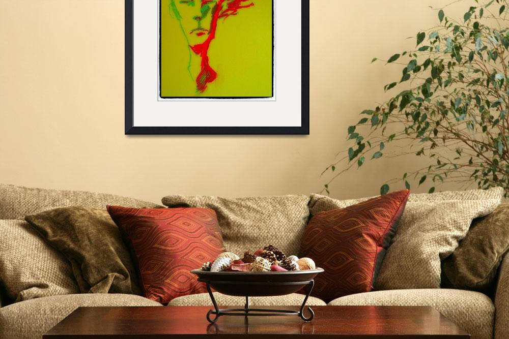 """Green and red face&quot  (2012) by emenica"