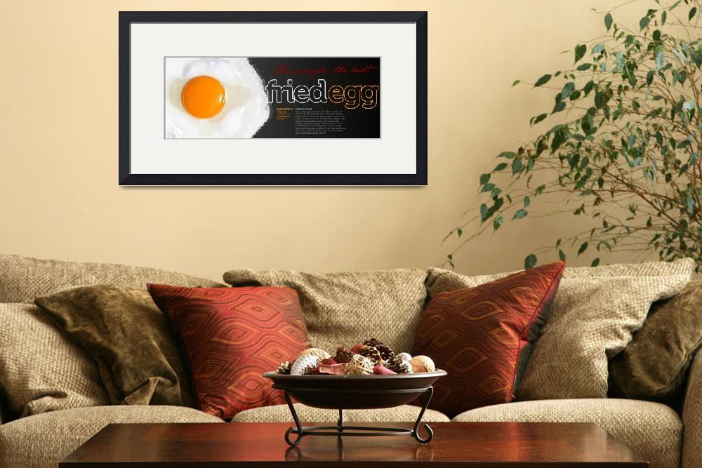 """Fried Egg by Pedro Menezes&quot  by TheyDrawandCook"