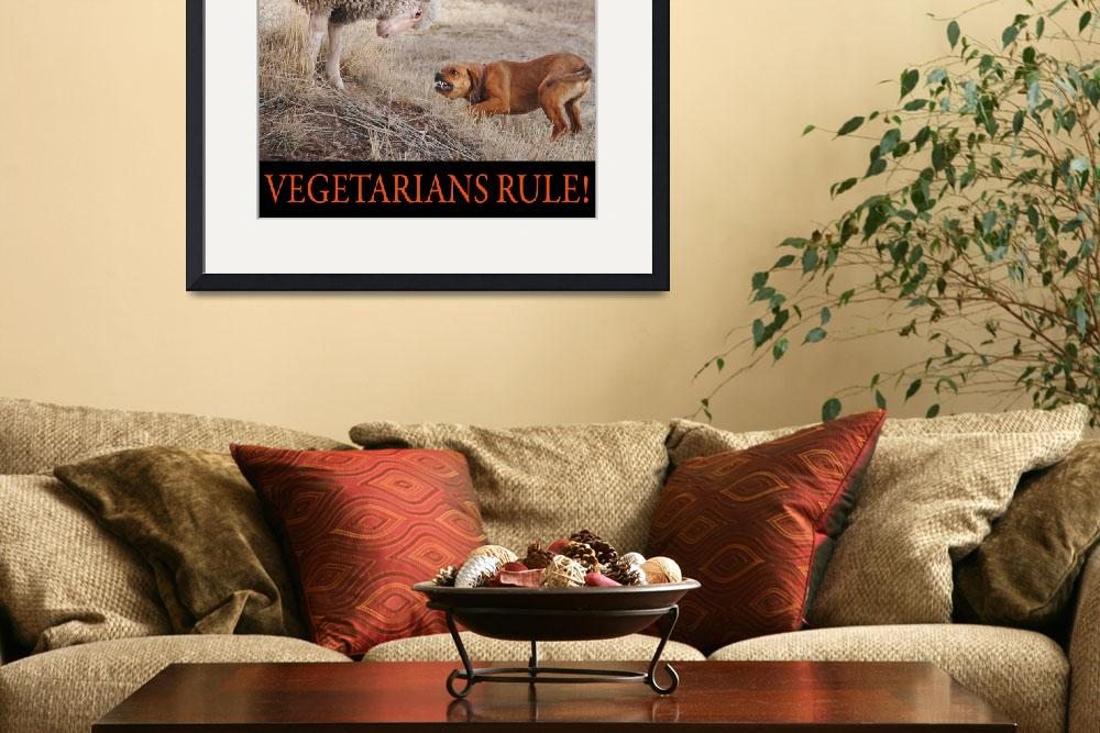 """vegetarians rule--my lamb and dog&quot  (2012) by rchristophervest"
