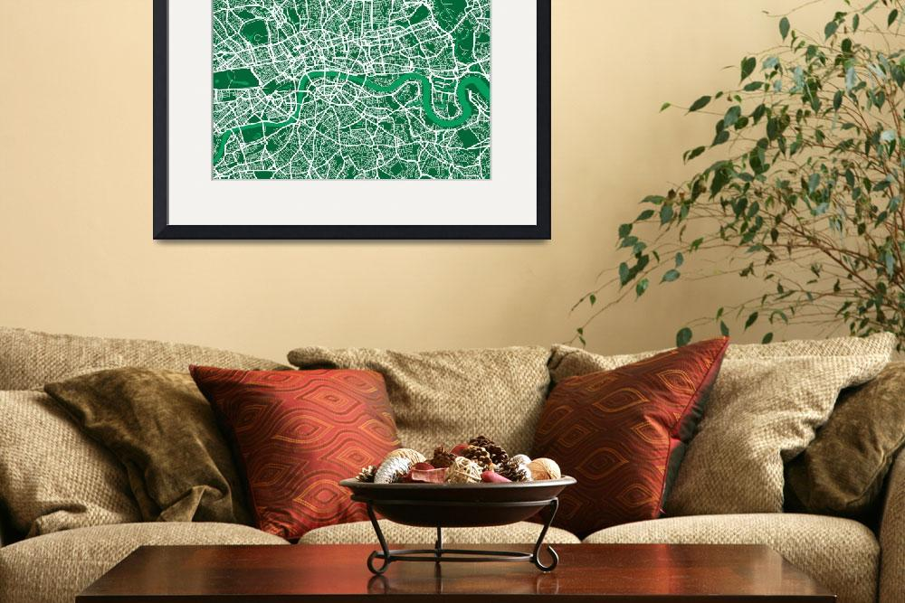 """London Street Map&quot  (2011) by ModernArtPrints"