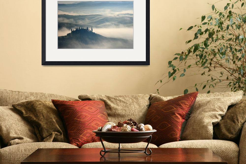 """Tuscan Morning Fog&quot  (2007) by DAllen"