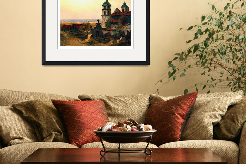 """Santa Barbara Mission Edwin Deakin&quot  by lookbackart"
