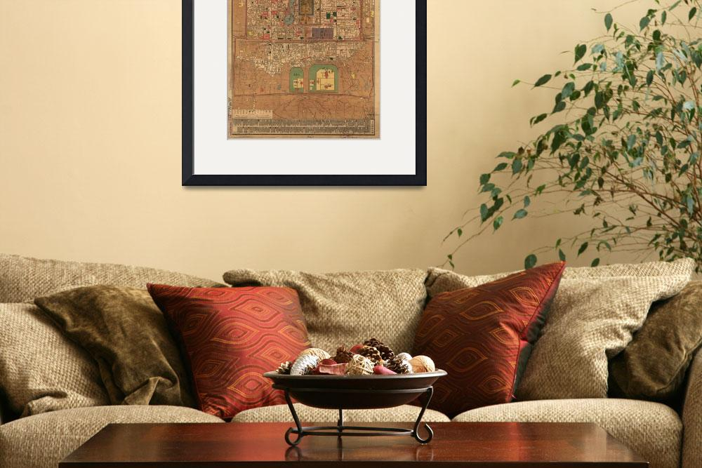 """Vintage Map of Beijing China (1914)&quot  by Alleycatshirts"