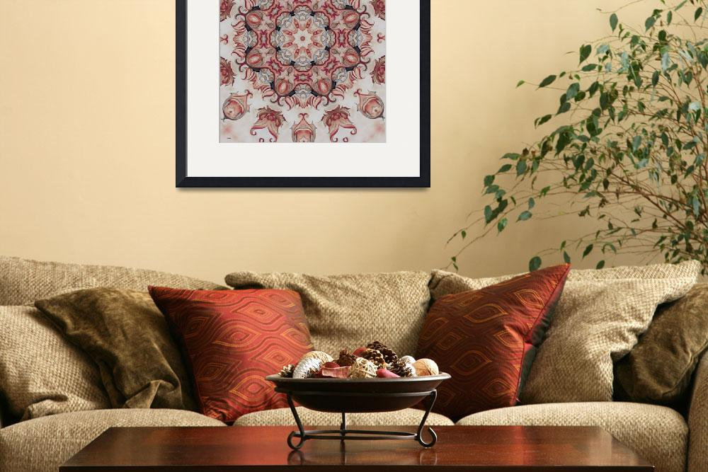 """French country cottage Red art print&quot  (2011) by HeidiVaught"
