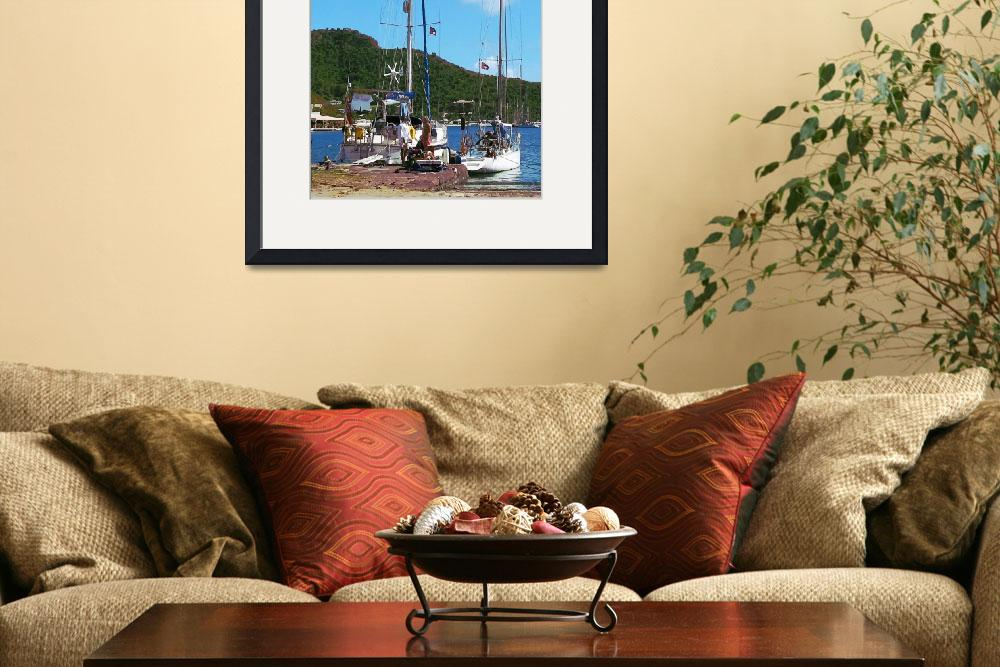 """Boats - Relaxing At The Dock&quot  by susansartgallery"