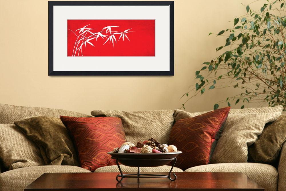 """Red bamboo&quot  (2011) by nomi"