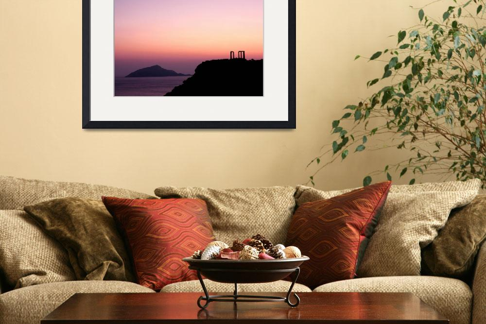 """Sunset at Sounio II&quot  (2010) by Elenilou"