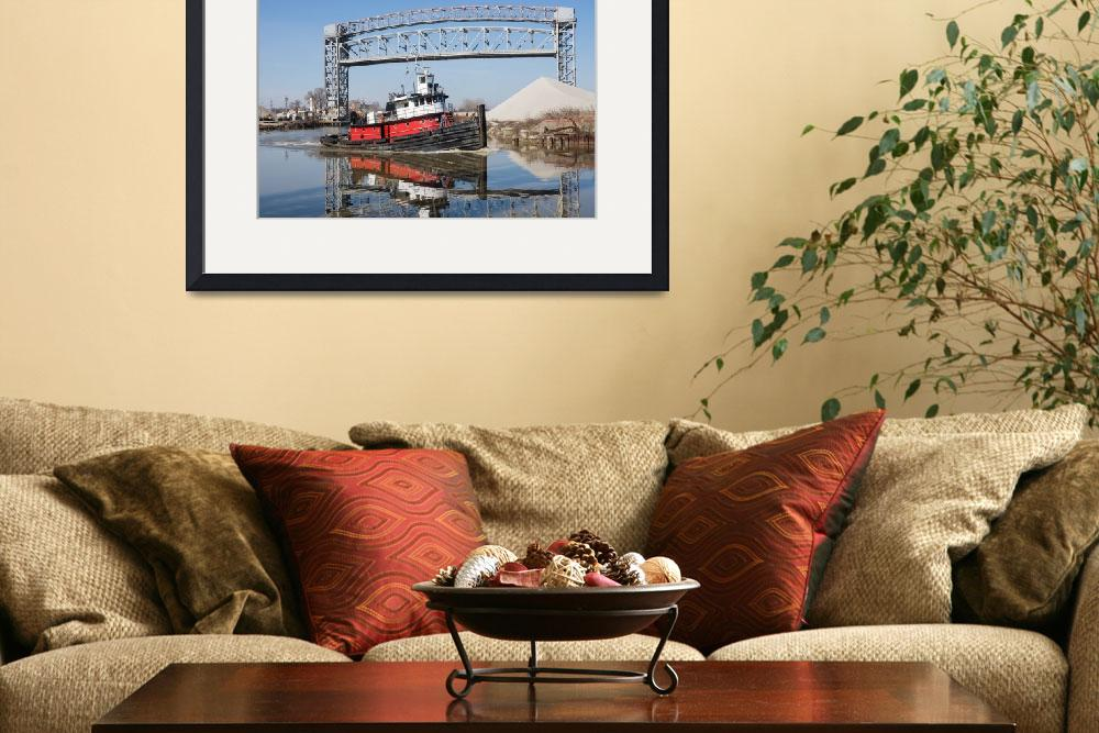"""Tugboat And Drawbridge&quot  (2014) by StonePhotos"