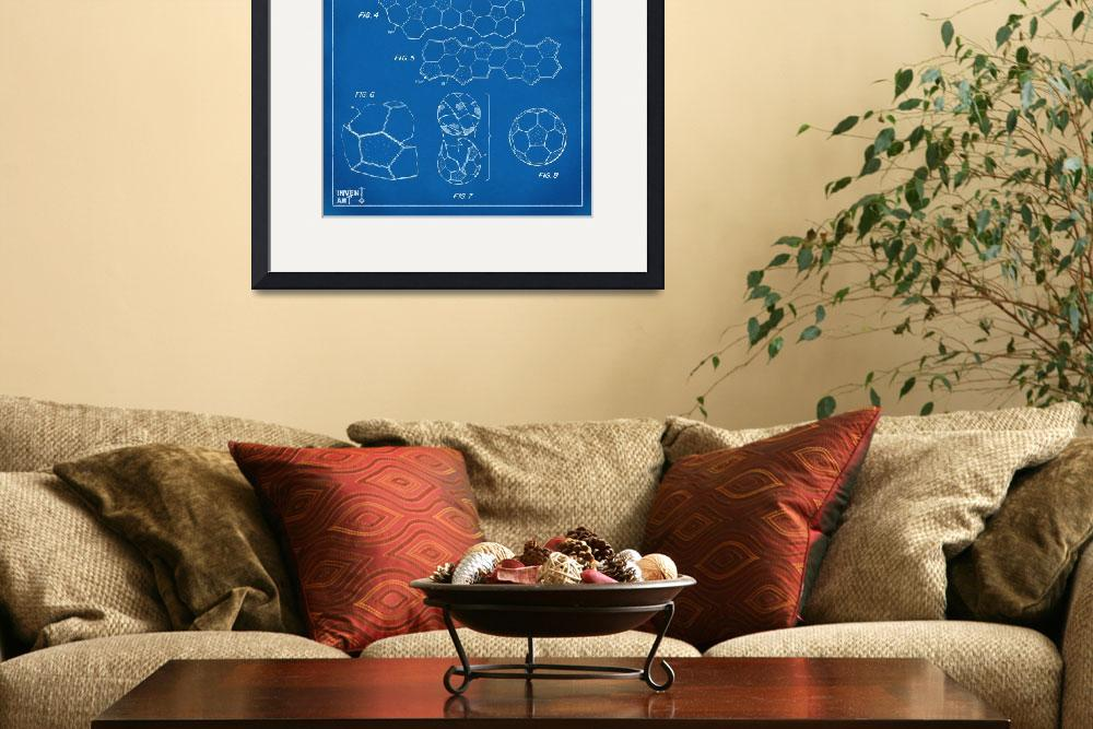 """Soccer Ball Construction Patent Artwork Blueprint&quot  (2014) by nikkismith"