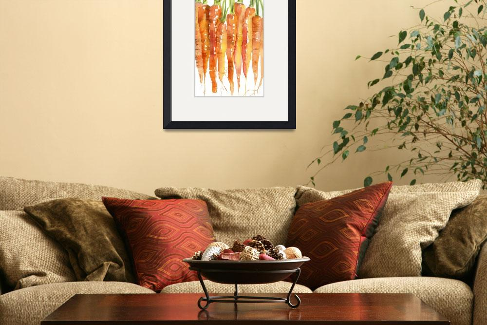 """Carrot Bunch Kitchen Art&quot  by BlendaStudio"
