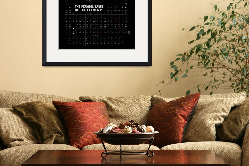 """Periodic Table of the Elements (black)&quot  (2013) by ellsworth"