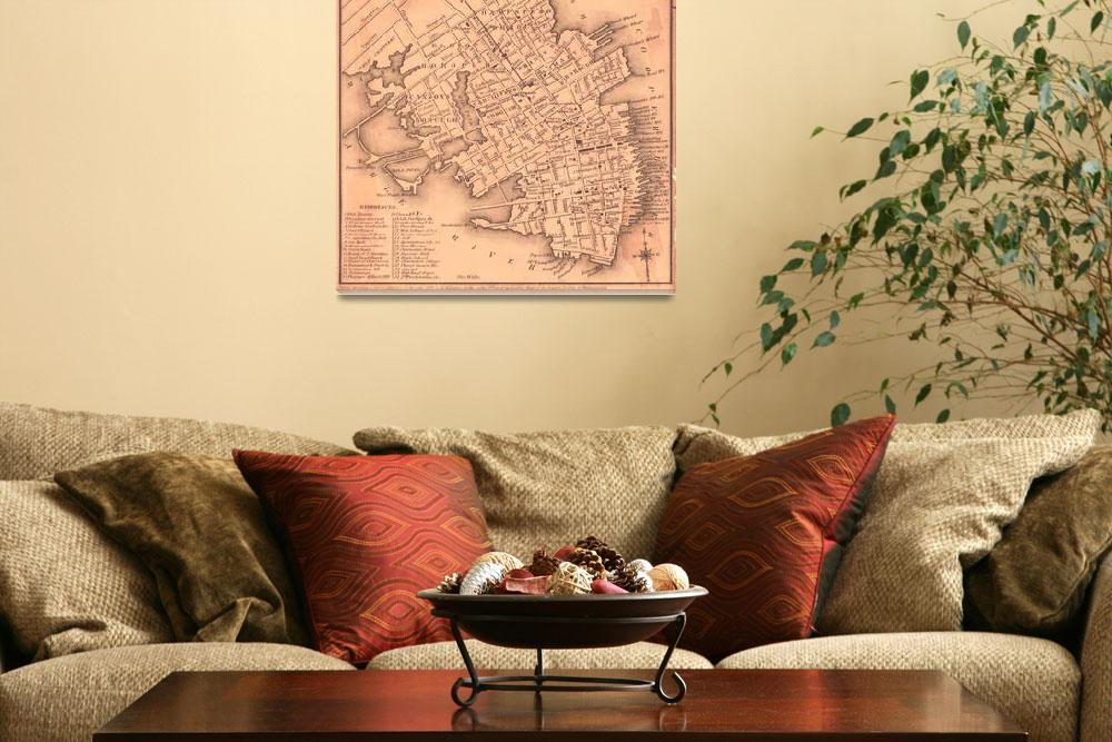 """Vintage Map of Charleston South Carolina (1849)&quot  by Alleycatshirts"