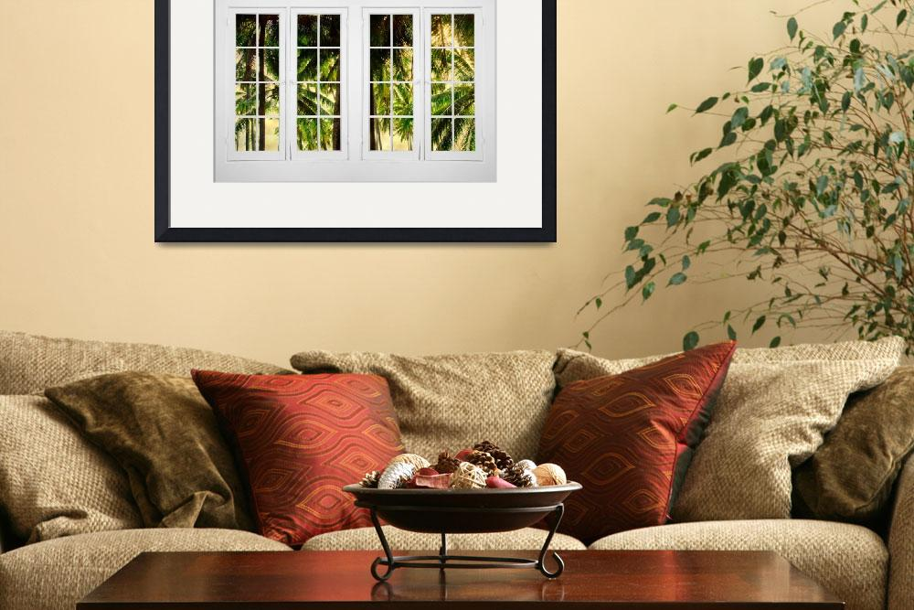 """Jungle Paradise Plantation Double 16 Pane Window&quot  (2014) by lightningman"