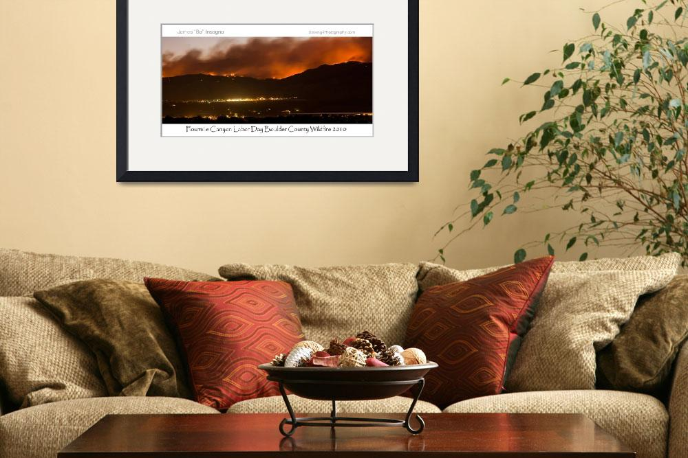 """Boulder County Fourmile Wildfire Panorama Poster&quot  (2010) by lightningman"