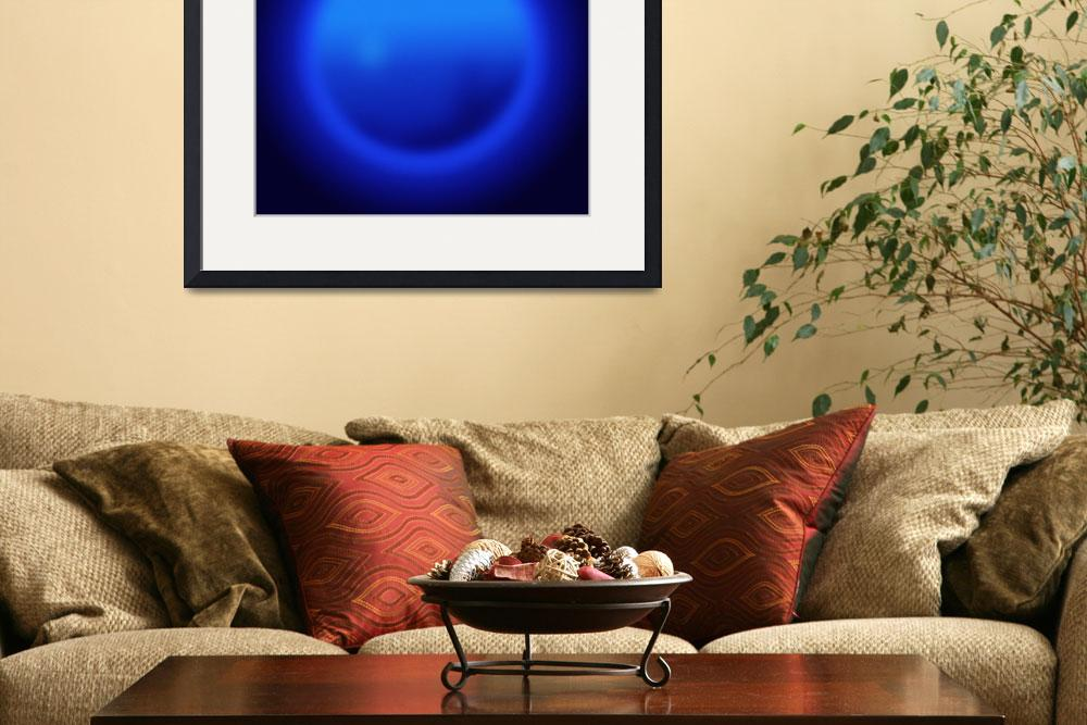 """Blue ball abstract&quot  (2007) by Morganhowarth"