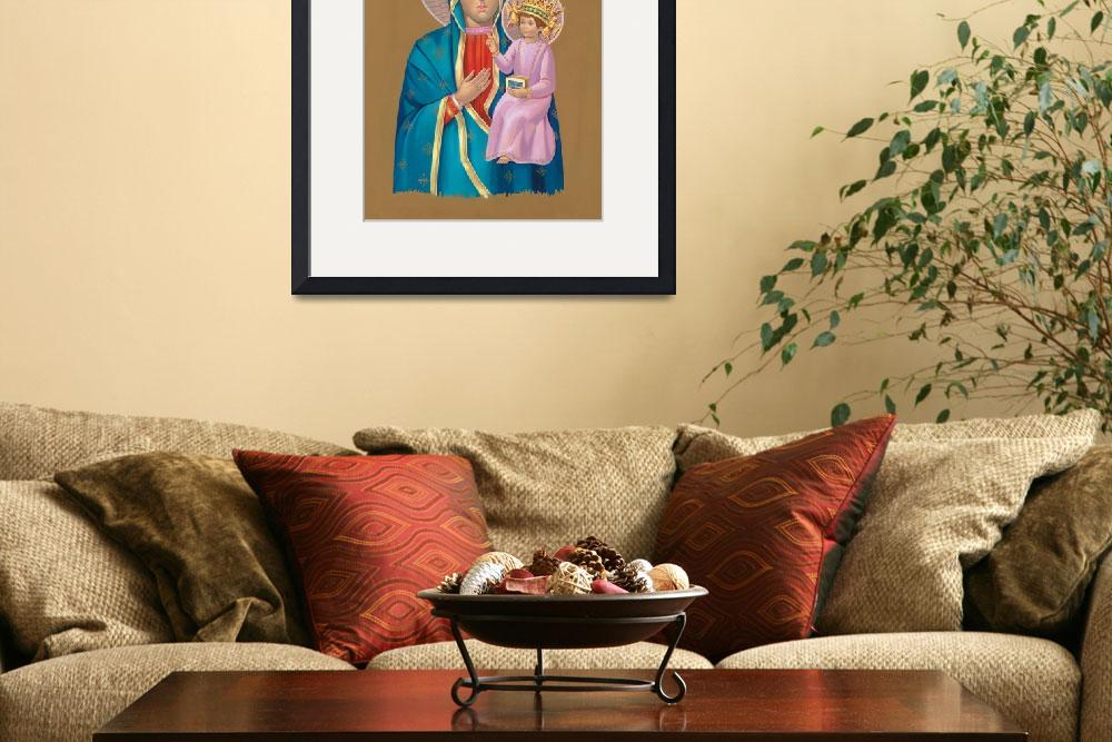 """Mary holding Jesus&quot  by artlicensing"